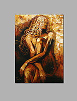 Abstract Nude Lady Wall Art Bar Decor Handpainted oil Painting Ready To Hang With Frame