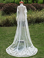 Wedding Veil One-tier Chapel Veils Lace Applique Edge