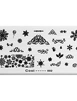 BlueZOO Rectangle Printing Nail Art Stamping (C-002)