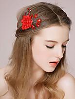 Vrouwen / Bloemenmeisje satijn / Imitatie Parel Helm-Bruiloft / Speciale gelegenheden Haarkammen / Haarclip 1 Stuk