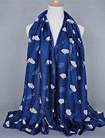 Voile Penguin Animal Pattern Printed Scarves Cotton Oversized Rectangular Shawl