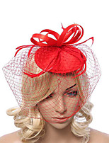 Women's Fabric / Net Headpiece-Special Occasion Fascinators 1 Piece