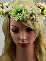 Mulheres / Menina das Flores Tecido Capacete-Casamento / Ocasião Especial / Casual / Ao ar Livre Grinaldas 1 Peça