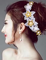 Women's Tulle / Fabric Headpiece-Wedding Birdal Retro Flowers 1 Piece