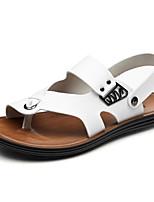 sapatos masculinos ao ar livre / de escritório&carreira / Atlético / vestido / casuais sandálias de couro marrom / branco