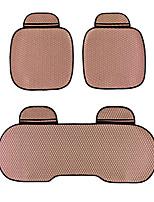 universele pasvorm voor auto, vrachtwagen, suv, of van platte doek auto zitkussen 3 stuks bruin
