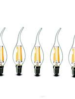 5 Stück shenmeile e14 6w 6 cob 600 lm warmweiß CA35 dimmbaren LED Kerzen 220-240 V Wechselstrom