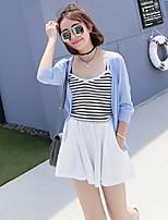 Women's Striped White / Black / Brown Vest,Street chic Sleeveless