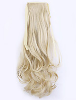 Flaxen Length 50CM Factory Direct Sale Bind Type Curl Horsetail Hair Ponytail(Color 22)