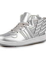 Women's Shoes Synthetic/Tulle Flat Heel Comfort Sneakers /Casual The wings of the angel wings shoes Black/Silver