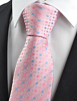 KissTies Men's New Polka Dot Circle Microfiber Tie Necktie Wedding Party Holiday With Gift Box (5 Colors Available)