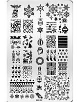 Nail Art Merry Christmas Gift Designs XMAS Snow Tree DIY Steel Plates Nail Art Templates  MR02
