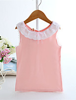 Girl's Pink / Yellow Tank & Cami,Patchwork Cotton Summer
