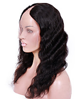 8A Remy human hair 14-18inches Natural Deep Body Wave U part Lace Celebrity Style Wigs for Women