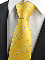 KissTies Men's Dotted Classic Glossy Microfiber Tie Necktie Wedding Holiday With Gift Box (6 Colors Available)