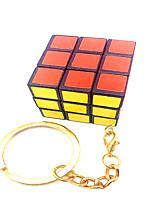 Cubes Magiques IQ Cube magic Cube Trois couches Avec une Chaîne de clé Cube de vitesse lisse Magic Cube Puzzle Blanc Plastique