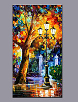 Big Size Canvas Oil Painting Hand Painted Modern Abstract Landscape Wall Art With Stretched Frame Ready To Hang 70x130cm