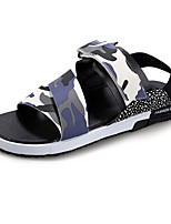 Sapatos Masculinos-Sandálias-Azul / Colorido-Couro Ecológico-Ar-Livre