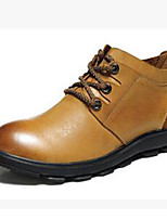 Men's Boots Combat Boots Nappa Leather Fall Winter Athletic Casual Outdoor Hiking Light Brown 1in-1 3/4in