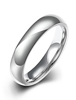 lureme® Silver Plated Stainless Steel Men Women Classic Simple Single Ring