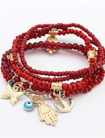 European And American Fashion Beaded Bracelet Buddha'S Heart