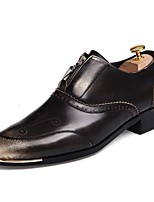 Men's Shoes Wedding / Office & Career / Party & Evening / Casual Synthetic Oxfords Black