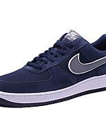 Zapatos Sneakers Cuero Marrón / Azul Marino Hombre