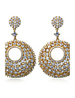 Beautiful Women Earring White Cubic Zirconia 18K Gold Plated & Imitation Pearls Dorp Earrings Weddin Jewerly
