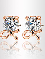 Zircon Crystal Simple High-end Fashion Jewelry Metal Earring