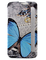 For LG Case with Stand / with Windows / Flip / Pattern Case Full Body Case Butterfly Hard PU Leather LG