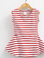Hot Product Summer Cute Baby Girl Dress Cotton Polka Dot Striped Dress Baby Girl Clothes Infants Princess Dress