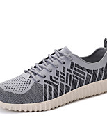 Men's Shoes Breathable Outdoor / Athletic / Casual Tulle Fashion Sneakers Black / Red / Gray