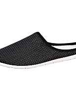 Men's Shoes Tulle Casual Loafers Casual Flat Heel Black / White / Gray