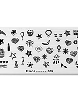 BlueZOO Rectangle Printing Nail Art Stamping (C-009)