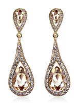 Fashion Women Zircon Earrings 10KT White Gold Filled Dangle Drop Party Earring Luxury Design brincos