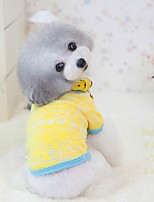 Dog Shirt / T-Shirt Yellow / Pink Dog Clothes Summer / Spring/Fall Solid Cute / Casual/Daily