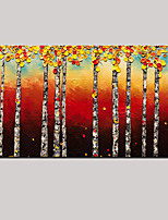 peinture à l'huile à la main forêt d'érable moderne art mur de paysage avec étiré encadrée prêt à accrocher