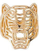 Retro Hollow Golden Tiger Domineering Ring