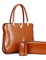 Women-Formal / Casual / Office & Career / Shopping-PU-Tote-Blue / Brown / Red / Black