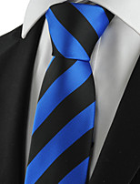 KissTies Men's Striped Microfiber Tie Suits Necktie Formal Wedding Party Holiday With Gift Box (5 Colors Available)