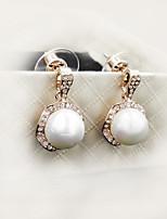 Clou d'oreille Boucle Zircon / Imitation de perle / Alliage Imitation de perle / Zircon Femme
