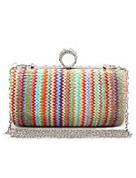 L.WEST Women's Weaving Evening Bag