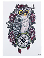 8PCS Cute Compass Owl Rose Flower Style Water Transfer Paint Tattoo Temporary Women Body Art Tattoo Sticker Fascinating