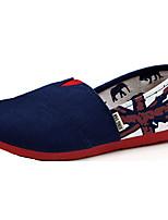 Girls' Shoes Casual Canvas Flats Spring / Summer / Fall Comfort Flat Heel Blue