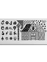 BlueZOO Rectangle Printing Nail Art Stamping (C-027)