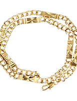 The New Fshion Men's Alloy / Gold Plated Necklace Chain / Wedding / Party / Daily / Casual / Sports / 50cm / 8mm
