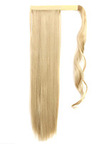 White Gold 60CM Synthetic High Temperature Wire Wig Straight Hair Ponytail Color 16/613