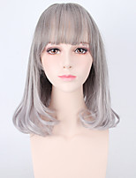 High Quality Grey Color Lolita Natural Wigs High Temperature Synthetic Wigs Heat Resistant