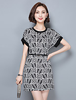 2016 Summer New Women Loose Retro Print Dress