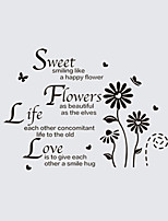 Wall Stickers Wall Decals Style British Style English Daisy PVC Wall Stickers